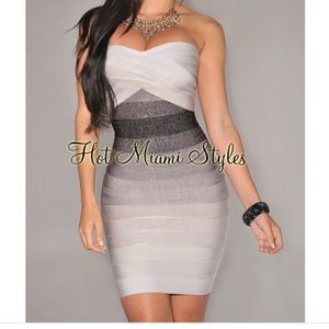 Hot Miami Styles Bandage Dress